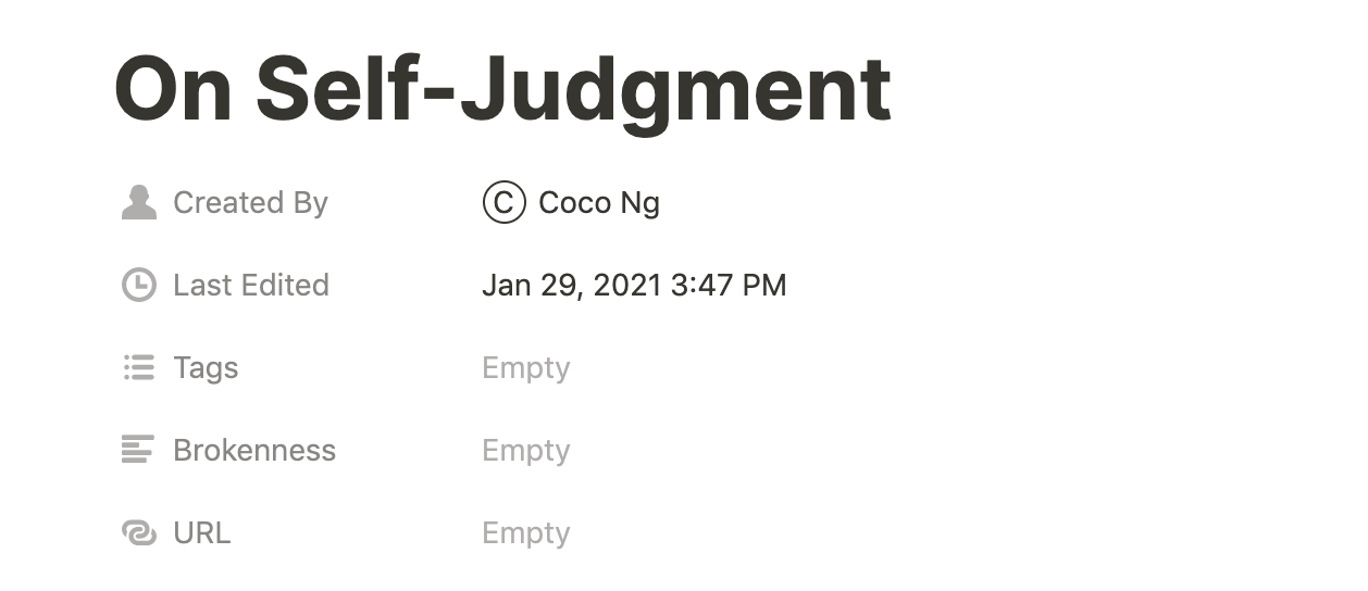 On Self-Judgment